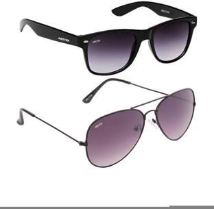 3c98f15fc10 Buy AAO+ Wayfarer Sunglasses Green For Men Online   Best Prices in ...