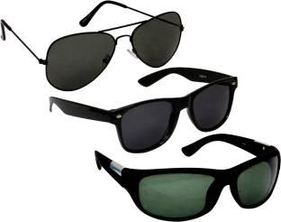 Verre comb3 Wayfarer, Aviator, Wrap-around Sunglasses