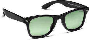 a418ed2ad3 Buy Velocity Wayfarer Sunglasses Green For Men Online   Best Prices ...