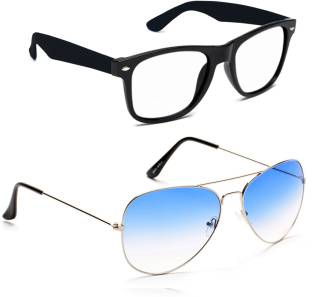 d0e3d53e5bf Buy Shoaga Wayfarer Sunglasses Clear For Men Online   Best Prices in ...