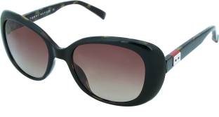 Tommy Hilfiger TH 2601 Blk/Tor C5 52 S Cat-eye Sunglasses