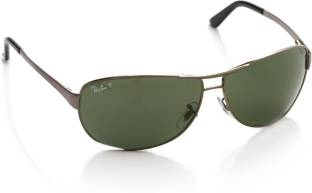 d6f6bb1cd2f Buy Ray-Ban Aviator Sunglasses Green For Men Online   Best Prices in ...