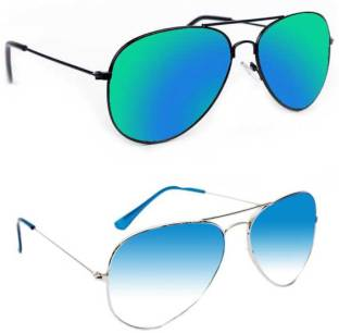 3861563cd3c Buy Glassic Aviator Sunglasses Blue For Men   Women Online   Best ...