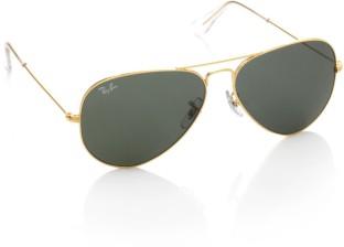 Ray-Ban Aviator Sunglasses (Green)