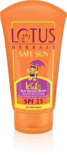 Lotus Herbals Kids Safe Sun Block Cream - SPF 25