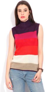 Pepe Jeans Striped Casual Women's Multicolor Sweater