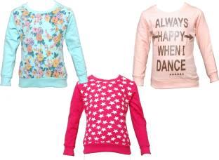 Little Stars Full Sleeve Printed Girls Sweatshirt