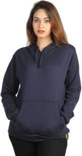 CAMPUS SUTRAFull Sleeve Solid Women Sweatshirt