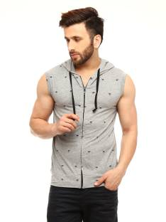 Gritstones Sleeveless Printed Men's Sweatshirt