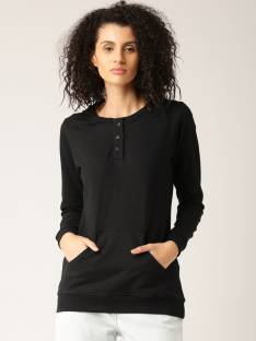 Dressberry Full Sleeve Solid Women's Sweatshirt