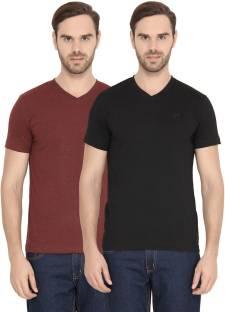b382d1ee FAME FOREVER Striped Men's V-neck White, Red T-Shirt - Buy FAME ...