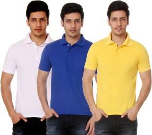 c7a4f18ee4b6 UCLA Solid Men's Polo Neck Green T-Shirt - Buy Green UCLA Solid ...