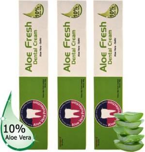YETURU'S Aloe Fresh Dental Cream 100 gm (pack of 3no's)