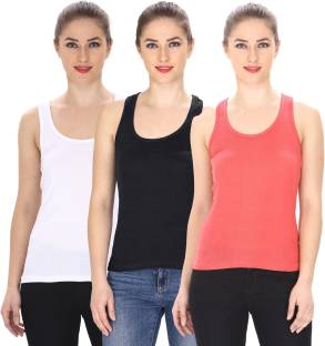 Friskers Casual Sleeveless Solid Women's Multicolor Top