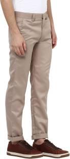 Urbano Fashion Slim Fit Men's Brown Trousers
