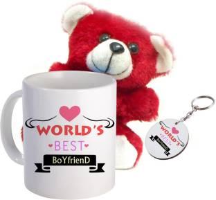 Ghasitaram Gifts Heart Teddy with Valentine Chocolate Box