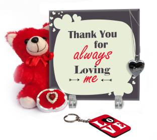 Tiedribbons Valentine Gift For Girl Friend Fiancee Wife With Love Message Propose Day Promise Day Hug Day Teddy Day Gifts For Birthday Anniversary Gifts Showpiece Gift Set