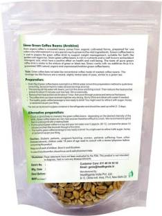 """Sinew Sinew Nutrition Green Coffee Beans for Weight Loss 400Gm (200Gm X 2), Arabica Grade """"A"""" Coffee Beans, Decaffeinated & Unroasted contains Chlorogenic Acid (GCA/CGA) for Weight Loss"""