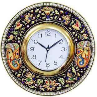 CraftJunction Analog 31 cm Dia Wall Clock