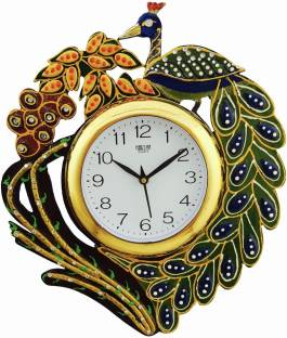 DivineCrafts Analog 37 cm X 35 cm Wall Clock