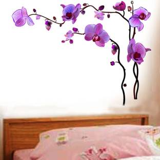 Happy Walls Bright Lovely Purple Flowers On Vines Corner Decor