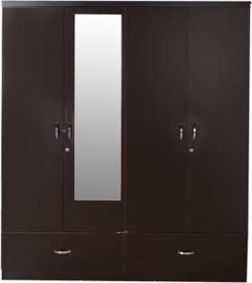 HomeTown Utsav Engineered Wood 4 Door Wardrobe