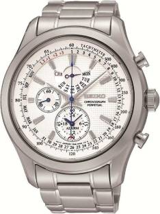 fab499f7feb Seiko White 6384 Seiko Chronograph White Dial Stainless Steel Brown ...