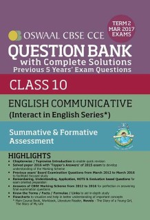 Oswaal CBSE CCE Question Bank With Complete Solutions For Class 10 Term II (October to March 2017) English Communicative price comparison at Flipkart, Amazon, Crossword, Uread, Bookadda, Landmark, Homeshop18