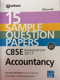 CBSE 15 Sample Question Paper - Accountancy for Class 12th price comparison at Flipkart, Amazon, Crossword, Uread, Bookadda, Landmark, Homeshop18