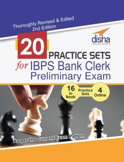 20 Practice Sets for IBPS Bank Clerk Preliminary Exam - 16 in Book + 4 Online Tests 2nd Edition price comparison at Flipkart, Amazon, Crossword, Uread, Bookadda, Landmark, Homeshop18