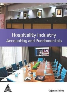 Hospitality Industry - Accounting and Fundamentals 1st  Edition price comparison at Flipkart, Amazon, Crossword, Uread, Bookadda, Landmark, Homeshop18