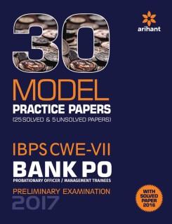 30 Model Practice Papers- IBPS CWE-VII Bank PO (PO/MT) Preliminary Examination 2017 price comparison at Flipkart, Amazon, Crossword, Uread, Bookadda, Landmark, Homeshop18