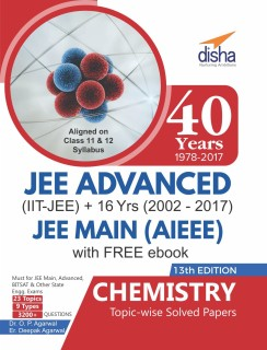 40 Years IIT-JEE Advanced + 16 yrs JEE Main Topic-wise Solved Paper Chemistry with Free ebook 13th Edition price comparison at Flipkart, Amazon, Crossword, Uread, Bookadda, Landmark, Homeshop18