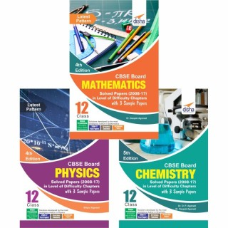 CBSE Board Class 12 Physics, Chemistry, Mathematics Solved Papers (2008 - 17) in Level of Difficulty Chapters with 3 Sample Papers 4th Edition price comparison at Flipkart, Amazon, Crossword, Uread, Bookadda, Landmark, Homeshop18