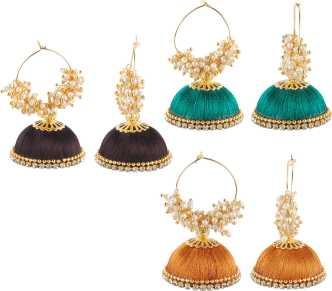 ab8c485a0 Silk Thread Jhumkas - Buy Silk Thread Jhumkas online at Best Prices in  India | Flipkart.com
