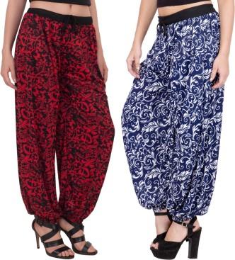 Ladies Plus Size Printed Harem Pants Lot Cuffed Bottom Ali Baba Trousers 8-26