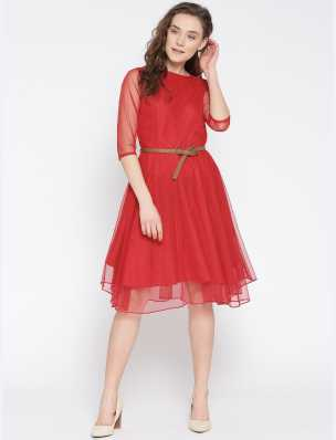 1abad1e32 Red Dresses - Buy Red Party Dresses Online at Best Prices In India ...