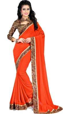 6f1b084a63 Orange Sarees - Buy Orange Sarees Online at Best Prices In India ...