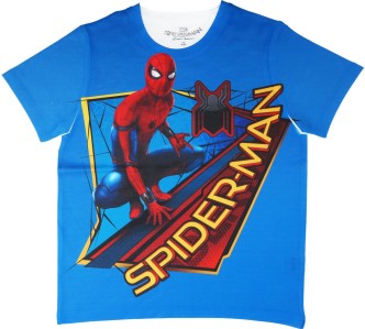 Spiderman T Shirt Boys Full Printed Cotton T-Shirt Top Ages 18 Months To 6 Years