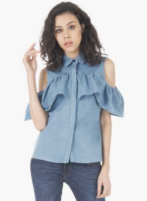 436e245efa1481 Cold Shoulder Tops - Buy Cut Out Shoulder Tops Online at Best Prices In  India