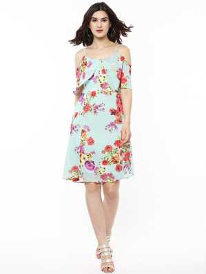 Knee Length Dresses - Buy Knee Length Dresses Online at Best Prices ... 0c7f05cde591
