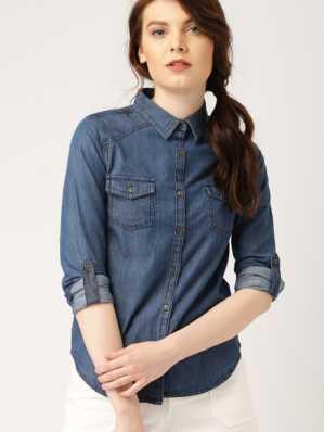 5f54453ebfd4a8 Womens Denim Shirts - Buy Denim Shirts For Women Online at Best Prices In  India | Flipkart.com