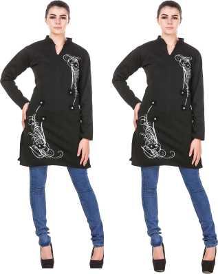 72943701eca Woolen Kurtis - Buy Woolen Kurtis online at Best Prices in India ...