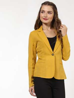 Blazers Womens Blazers Female Business Work Office Formal Styles Suit Yellow Blue White Green Female Jackets Coat Outwear Back To Search Resultswomen's Clothing