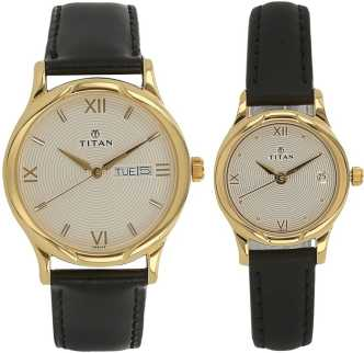 b9d9dd81e9 Titan Couple Watches - Buy Titan Couple Watches online at Best Prices in  India | Flipkart.com