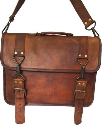 Office Genuine Leather Men/'s Laptop Bag Shoulder Messenger Vintage Crossbody G98