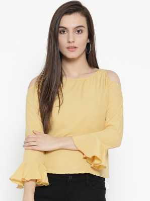 418ad476cb0db Cold Shoulder Tops - Buy Cut Out Shoulder Tops Online at Best Prices In  India