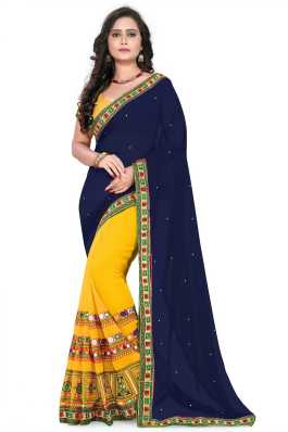 2725acac743664 Mirror Work Sarees - Buy Mirror Work Sarees online at Best Prices in India