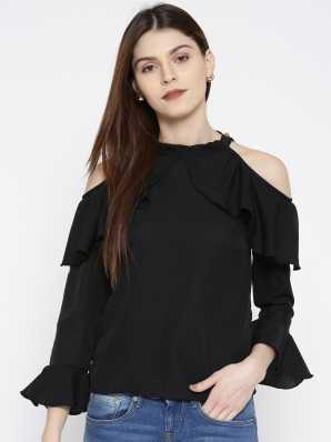 fe1fb49c298e5 Cold Shoulder Tops - Buy Cut Out Shoulder Tops Online at Best Prices In  India