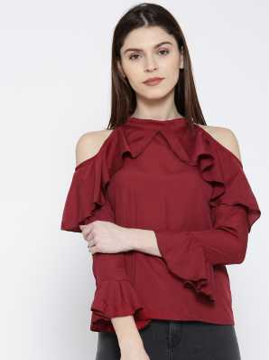 4dc95e3d89bbe Cold Shoulder Tops - Buy Cut Out Shoulder Tops Online at Best Prices ...